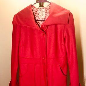 Tulle Jackets & Coats - Pink jacket, similar to a pea coat style